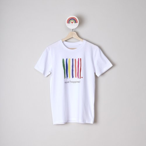 t-shirt unisex equal happiness