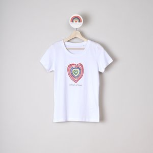 t-shirt woman colours of love