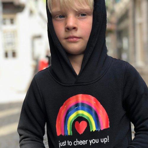 hoodie kids black just to cheer you up