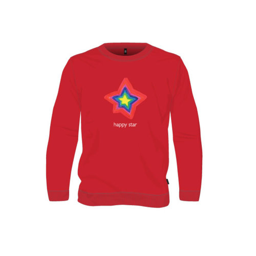 sweater kids red happy star