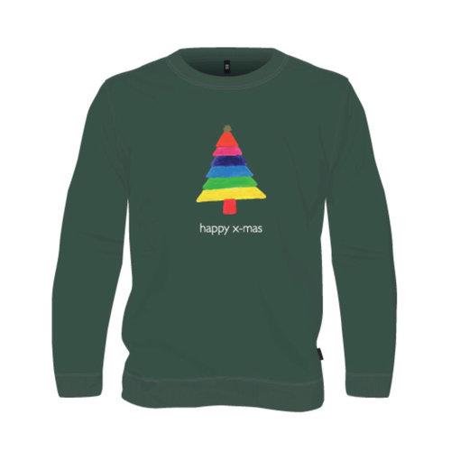 sweater green happy x-mas