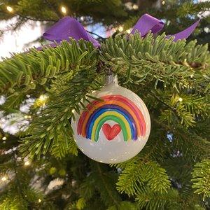 kerstbal hoogglans 8 cm