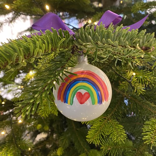 christmas bauble shiny 8 cm