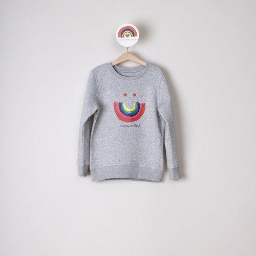 sweater kids grijs happy smiles