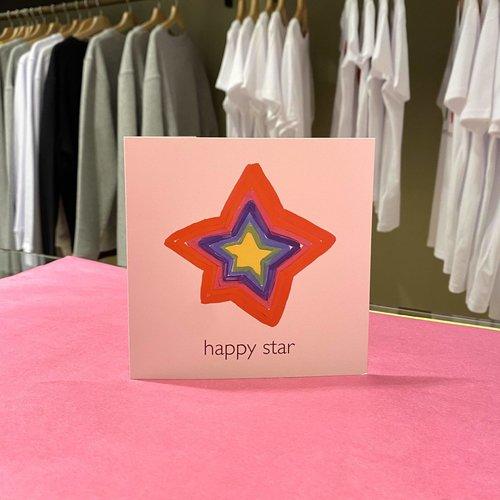 christmas card happy star
