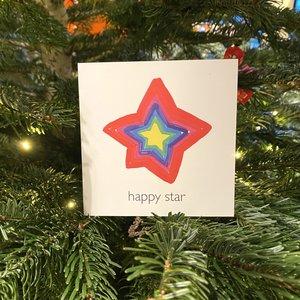 kerstkaart happy star
