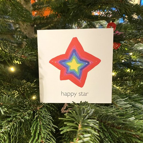 christmas card happy star