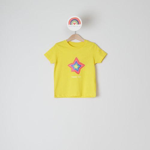 t-shirt kids yellow happy star