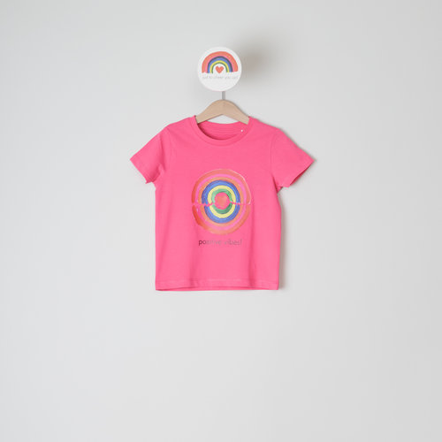 t-shirt kids pink punch positive vibes