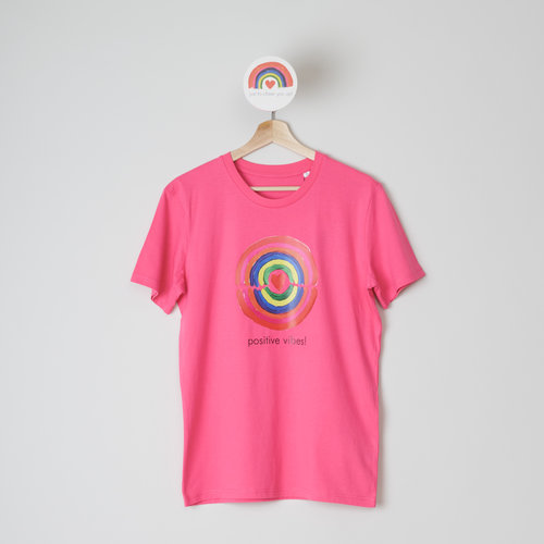 t-shirt unisex pink punch positive vibes