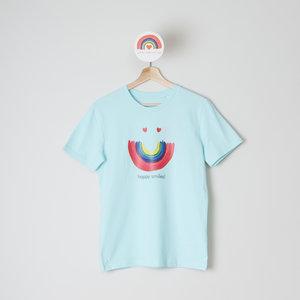 t-shirt unisex carribean blue happy smiles