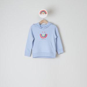 hoodie kids serene blue happy smiles