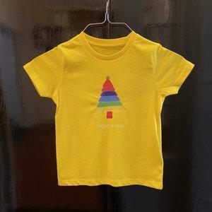 t-shirt kids yellow happy x-mas