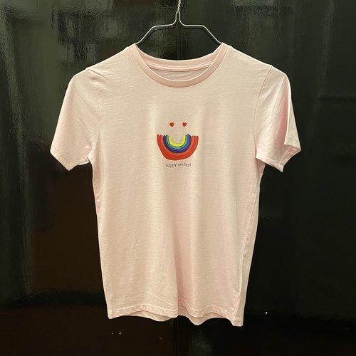 t-shirt kids cotton pink happy smiles