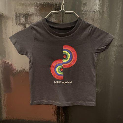 t-shirt kids black better together