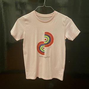 t-shirt kids cotton pink better together
