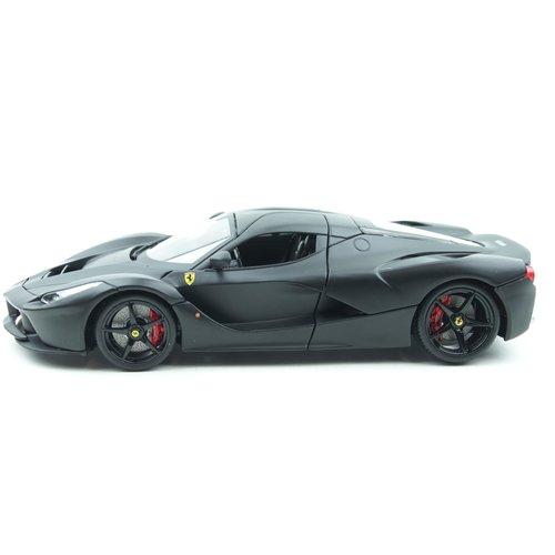 Bburago Bburago স্বাক্ষর Ferrari Laferrari 2014 ম্যাট ব্ল্যাক 1:18 - নতুন