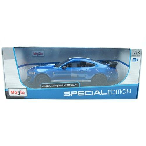 Maisto Maisto Shelby GT500 2020 Blauw 1:18 - Nieuw