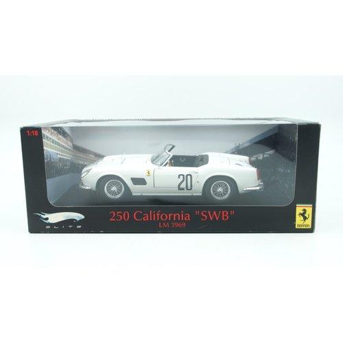 Hot Wheels Hot Wheels Ferrari 250 California SWB LM 1969 White 1:18