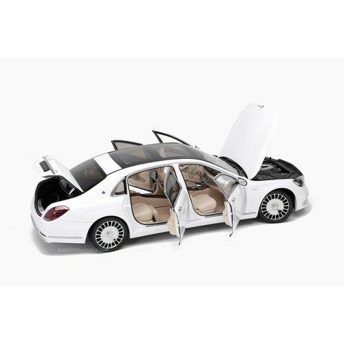 প্রায় রিয়েল প্রায় রিয়েল Mercedes-Benz Maybach এস-বর্গ 2019 হোয়াইট 1:18