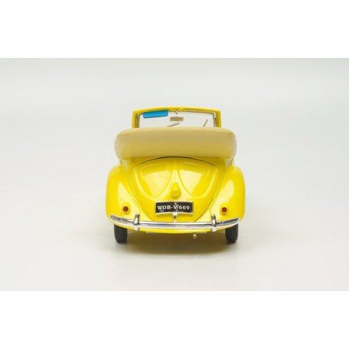 Maisto Maisto Volkswagen Kever Cabrio 1951 Geel 1:18