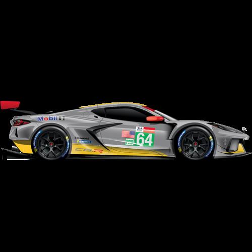 GT Spirit GT Spirit Chevrolet Corvette C8-R #64 24Hours of Le Mans 2021 Grijs 1:18  - Pre Order 1de Kwartaal 2022