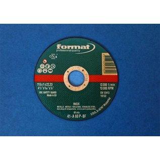 Versandmetall 3-delige doorslijpschijf 115 x 1,0 mm (roestvrij staal)