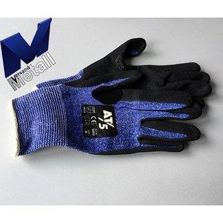 Versandmetall Handschoenen, snijbescherming, maximum snijbescherming, Blauw