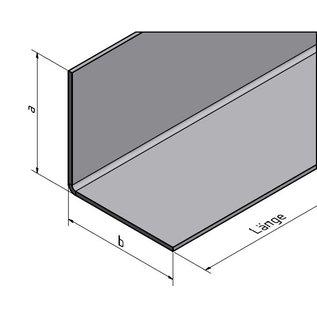 Versandmetall RVS 304 Hoekprofiel L-profiel 100mmx100mm Dikte 2,0 mm Lengte 2500 mm oppervlakke geschuurd(grid320)