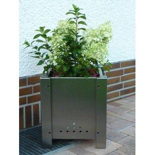 Versandmetall Edelstahl Blumen Pflanzkübel Übertopf Pflanzgefäß 38-58cm rostfrei quadratisch
