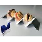 Versandmetall 3er Hot-Dog-Ablage Snackwelle