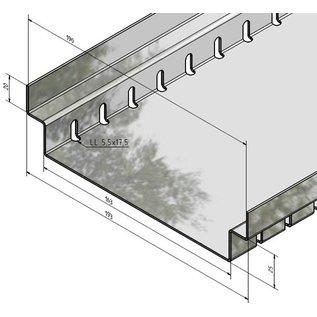 Versandmetall Drainagerinne aus Edelstahl Einlaufbreite 90 bis 140mm Linienentwässerung von Oberflächen