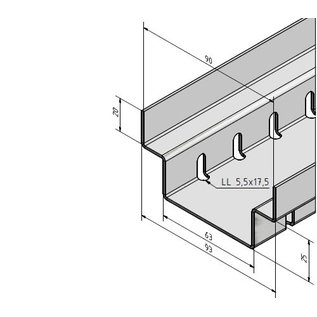 Versandmetall Drainagerinne aus Aluminium Einlaufbreite 90 bis 190mm Linienentwässerung von Oberflächen