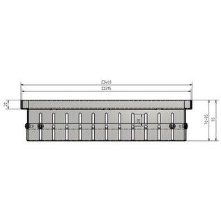 Versandmetall Drain-Gully Rahmen variabel 70-95mm Aluminium inklusive Edelstahl Einlaufrost