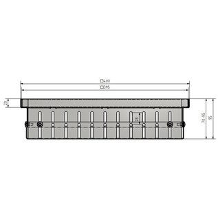 Versandmetall Drain-Gully Rahmen variabel 70-95mm ohne Einlaufrost 1,5mm Aluminium