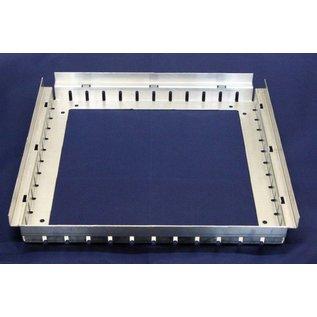 Versandmetall Drain-Gully Rahmen fix ohne Einlaufest aus 1,5mm Aluminium