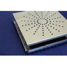 Versandmetall Afvoer geul montuur Onderbouw gemaakt van aluminum met Inlaatrooster gemaakt van roestvrij staal