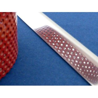 Versandmetall RVS 304 Hoekprofiel Hoekstrip L-Profiel roestvrij Staal gezet gelijkzijdig 60° Lengte tot 1500 mm