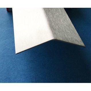 Versandmetall RVS 304 Hoekprofiel Hoekstrip L-Profiel roestvrij Staal gezet gelijkzijdig 135° Lengte tot 2500 mm