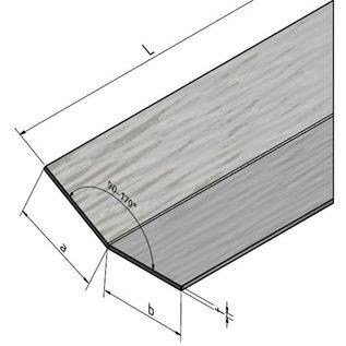 Versandmetall Edelstahlwinkel gleichschenkelig 135° Länge 1000 mm