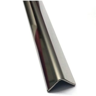 Versandmetall RVS 304 Hoekprofiel Hoekstrip L-Profiel roestvrij Staal, gezet gelijkzijdig 90° Lengte tot 1250 mm