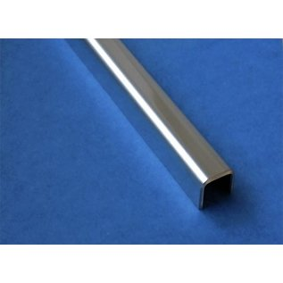 Versandmetall Glasrandprofiel U-Profiel, gemaakt van roestvrij Staal, lengte tot 2500 mm vor Glasdickte van 8 mm tot 12,52 mm