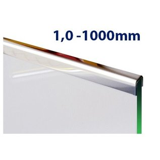 Versandmetall Glasrandprofiel U-Profiel, gemaakt van roestvrij Staal, lengte tot 1000 mm vor Glasdickte van 8 mm tot 12,52