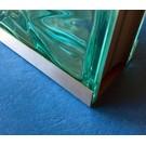 Versandmetall afsluitprofiel frameprofiel Glasbouwsteen roestvrij Staal dikte 1,0 mm Lengte tot 2500 mm