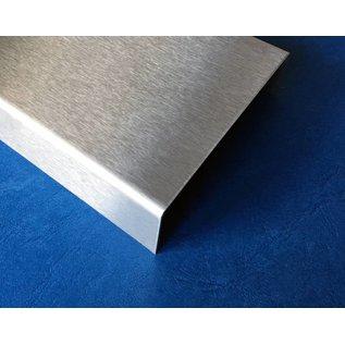 Versandmetall Einfassprofil Glasbaustein U-Profil aus 1,5 mm Edelstahl geeignet für Glasbaustein 80 und 100mm