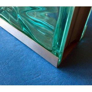 Versandmetall Einfassprofil Glasbaustein U-Profil 2,0 mm Edelstahl geeignet für Glasbaustein 80 und 100mm