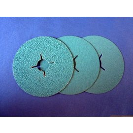 Versandmetall 5 stuks slijpschijven fiberschijfen 115 mm (roestvrij staal)