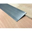 Versandmetall Voegafdekprofiel Afdekprofiel Overgangsstrook 4,5mm roestvrij Staal oppervlakke geschuurd(grid320) 2X gezet
