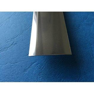 Versandmetall Fugenabdeckleiste aus 1.4301 aus IIID-Blech Oberfläche spiegelnd/glänzend 2-fach 172° abgekantet