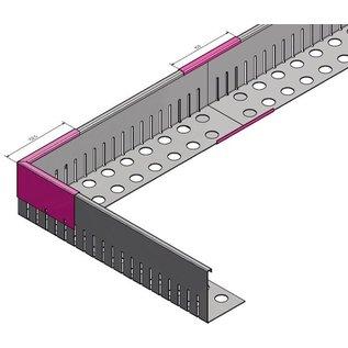 Versandmetall VERBINDER Kiesfangleiste groß Aluminium Höhe 80-120mm